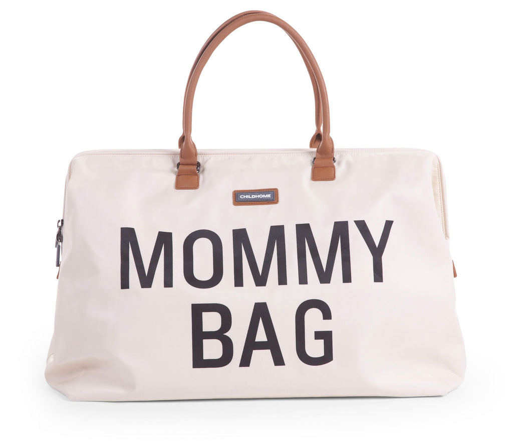 Mommy Bag Large - Écru / Noir