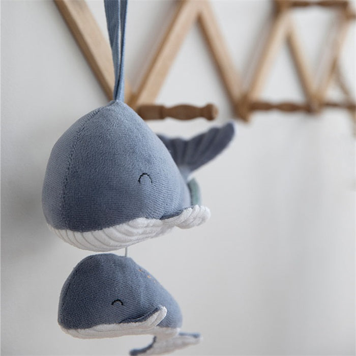 Peluche musicale baleine Ocean Blue - Little Dutch