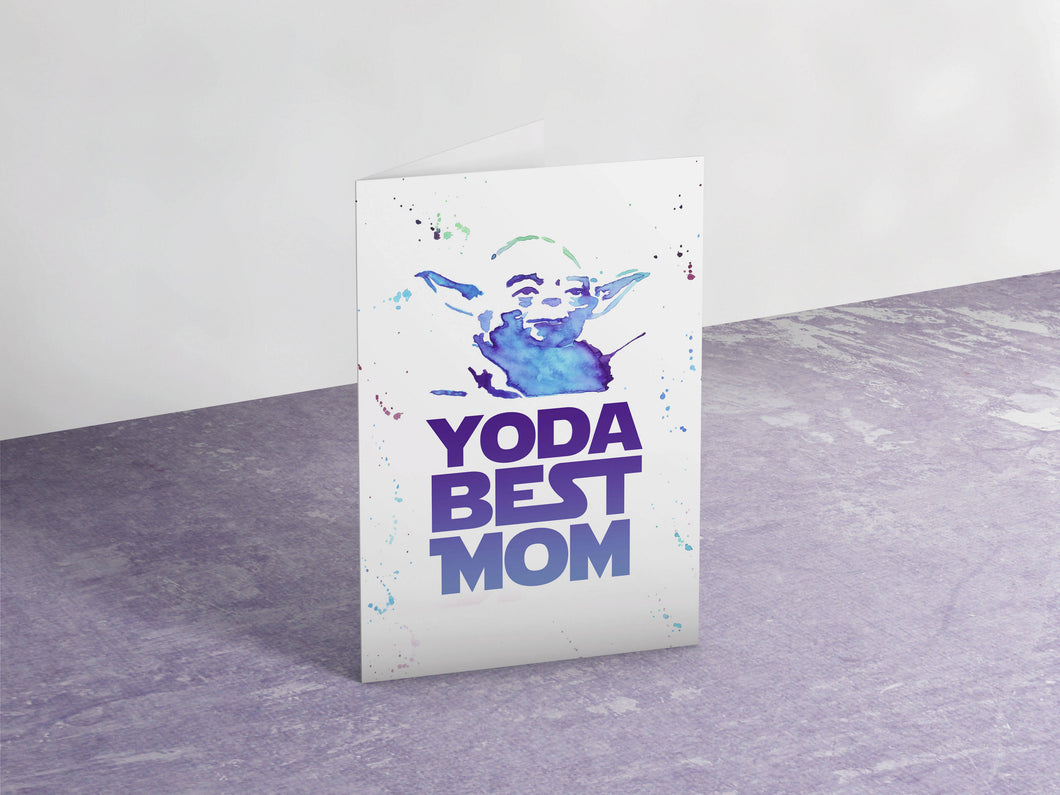 Yoda Best Mom Card
