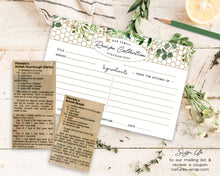 Load image into Gallery viewer, Recipe cards set/30 Eucalyptus