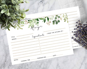 Recipe cards set/30 Eucalyptus