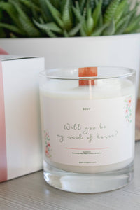 Will you be my maid of honour? 10 oz jar Candle