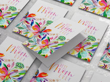 Load image into Gallery viewer, Best Mom Ever Rainbow Floral Card