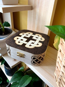 Wooden Box - Celtic Knot