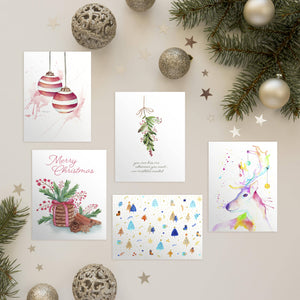 5 Pack Christmas Cards