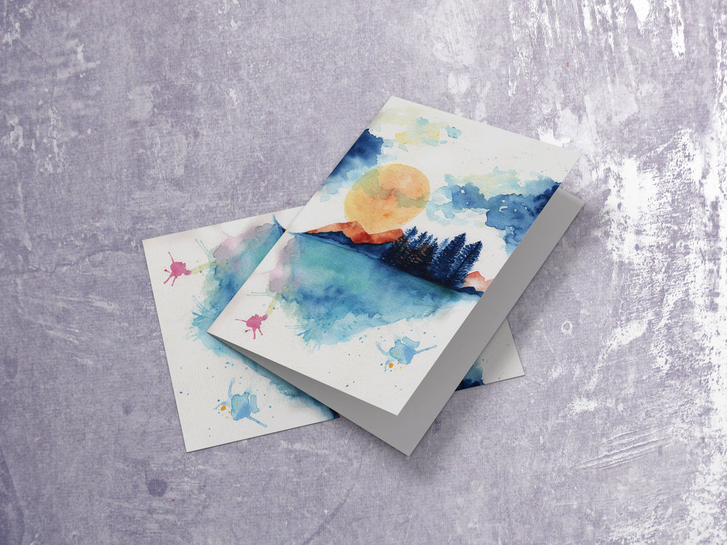 Moon Landscape Card