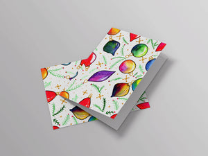 Xmas Ornaments Rainbow Card
