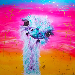 "Eleanor ""The Ostrich"" Painting"