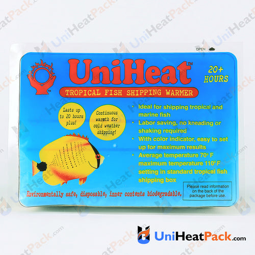 UniHeat 20 hour front side view of shipping warmer packaging.