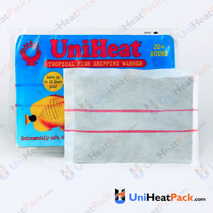 UniHeat 20 hour inside view of shipping warmer pouch.
