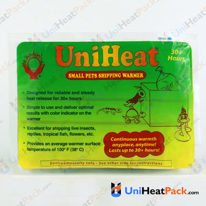 UniHeat 30 hour front side view of shipping warmer packaging.