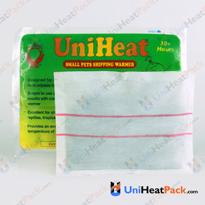 UniHeat 30 hour inside view of shipping warmer pouch.