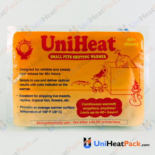 UniHeat 40 hour front side view of shipping warmer packaging.
