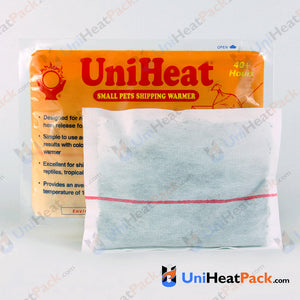 UniHeat 40 hour inside view of shipping warmer pouch.