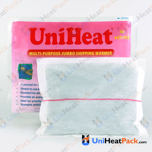 UniHeat 60 hour inside view of shipping warmer pouch.