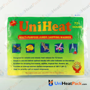 UniHeat 72 hour front side view of shipping warmer packaging.