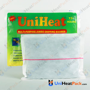 UniHeat 72 hour inside view of shipping warmer pouch.