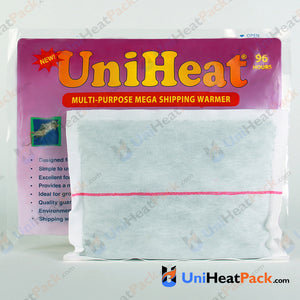 UniHeat 96 hour inside view of shipping warmer pouch.