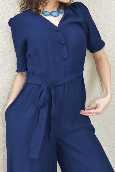 Jumpsuit Blue Front