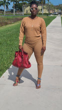 Load image into Gallery viewer, CAMEL KNIT LEGGING SET
