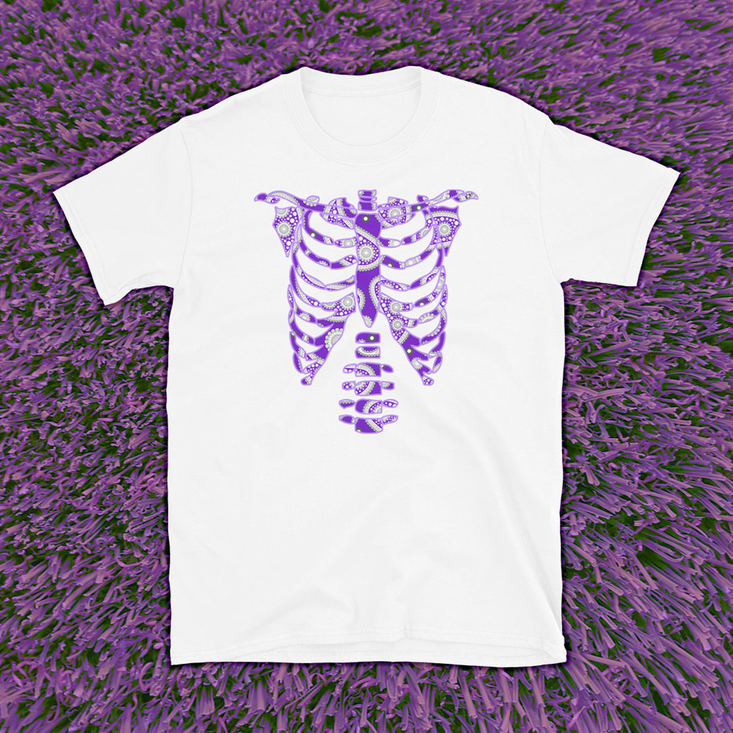 Purple Skeleton Tee