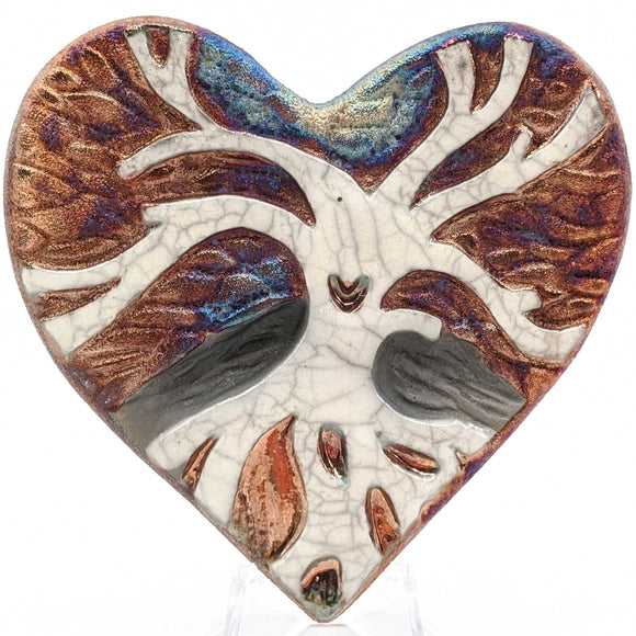 Tree of Life Raku Pottery Blessed Heart
