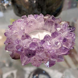 Natural Amethyst Votive Candle Holder