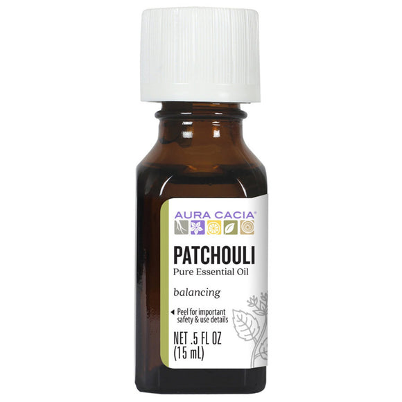 Aura Cacia Dark Patchouli Essential Oil 0.5 fl. oz.