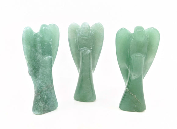Aventurine Carved Angels Medium Size