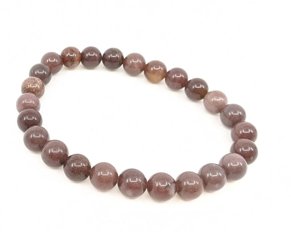 Lepidolite In Quartz 8mm Stretch Bracelet