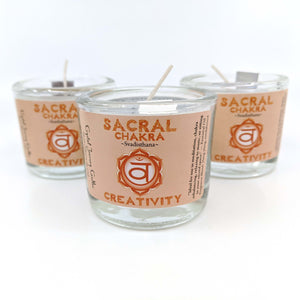 Crystal Journey Filled Votive Sacral Chakra