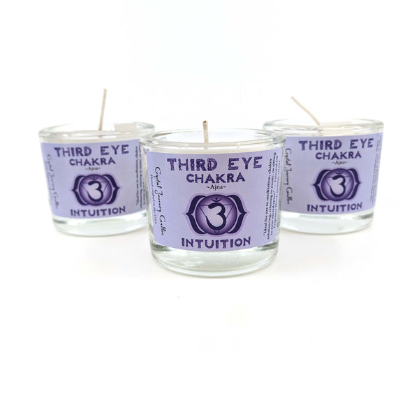Crystal Journey Filled Votive Third Eye Chakra