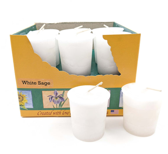 Crystal Journey Votive White Sage