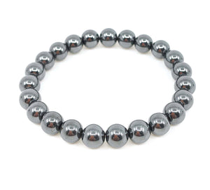 Hematite 8mm Stretch Bracelet