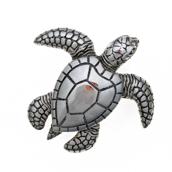 Sea Turtle Sterling Silver Pendant