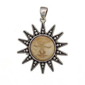 Radiant Sun Sterling Silver Pendant