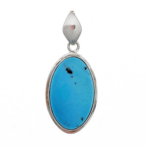 Kingman Turquoise Sterling Silver Pendant