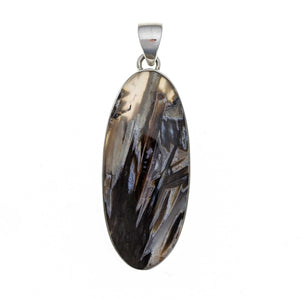 Oregon Tube Agate Sterling Silver Pendant