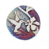 Hummingbird Raku Pottery Medallion