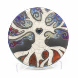 Tree of Life Raku Pottery Coaster