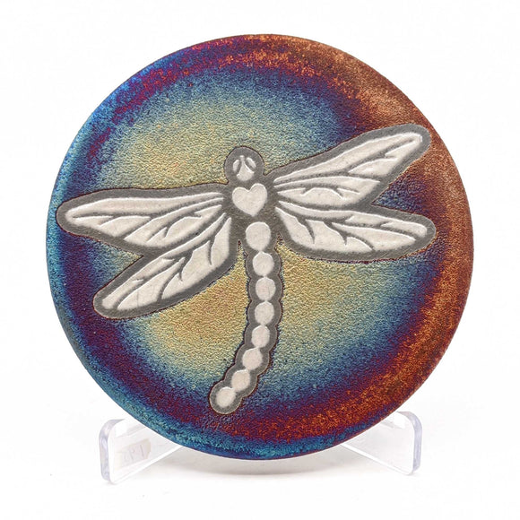 Dragonfly Raku Pottery Coaster