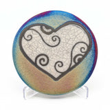 Blessed Heart Raku Pottery Coaster