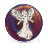 Angel Raku Pottery Coaster