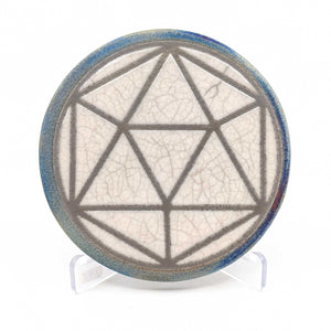 Sacred Geometry Raku Pottery Coaster