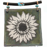 Raku Dreamcatcher Tile - Sunflower