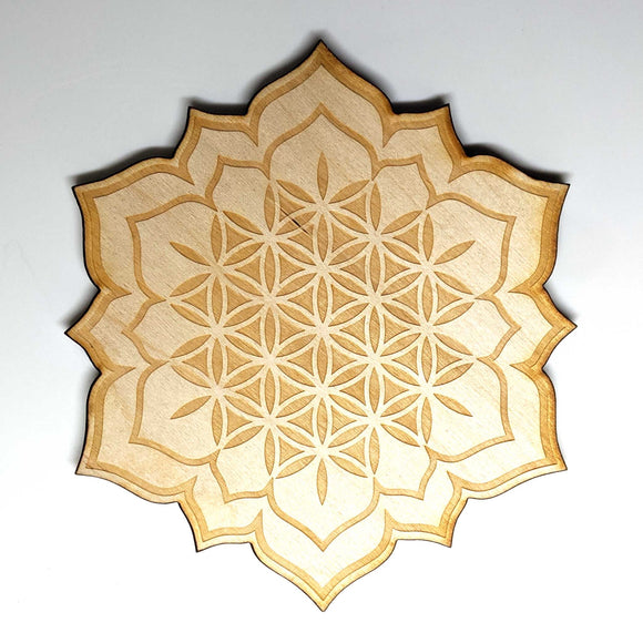 Flower of Life Lotus Crystal Grid