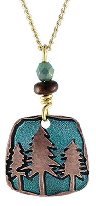 Teal Pines Necklace by Earth Dream
