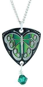 Green Butterfly Necklace by Earth Dream