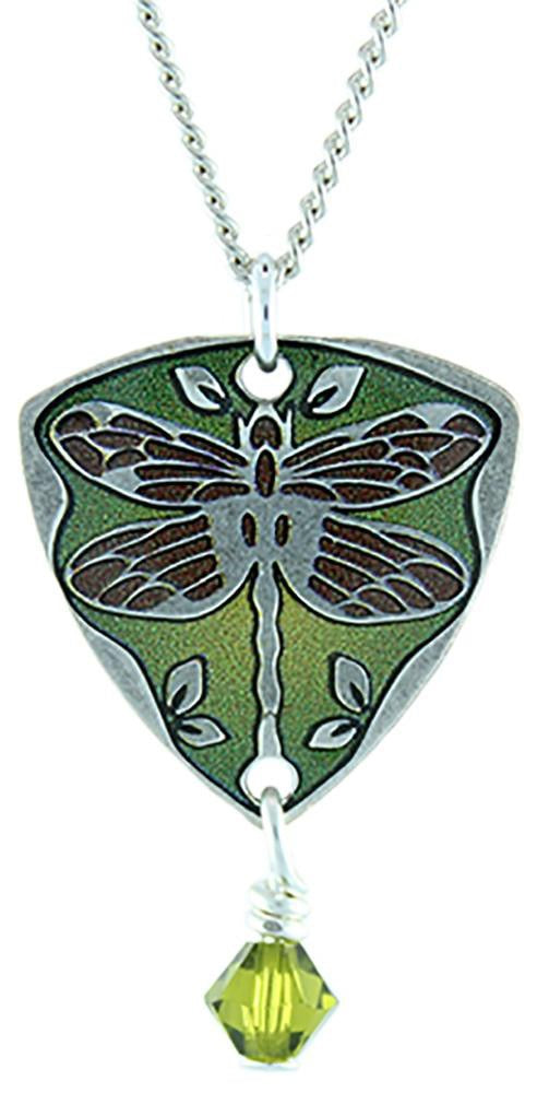 Green Dragonfly Necklace by Earth Dream