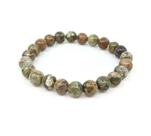 Rainforest Jasper (Rhyolite) 8mm Stretch Bracelet